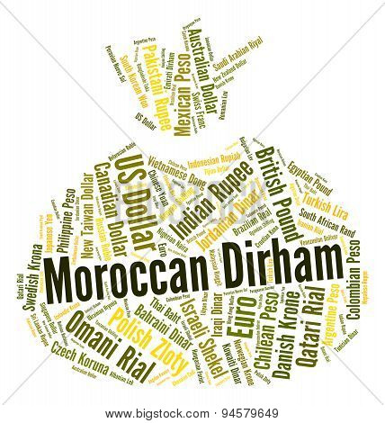 Moroccan Dirham Shows Foreign Exchange And Dirhams
