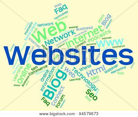 Websites Word Represents Www Searching And Words