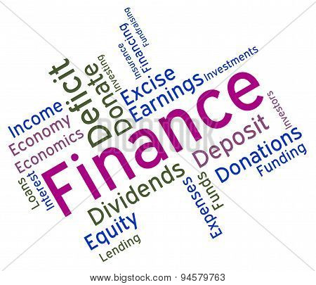 Finance Word Means Financial Trading And Profit