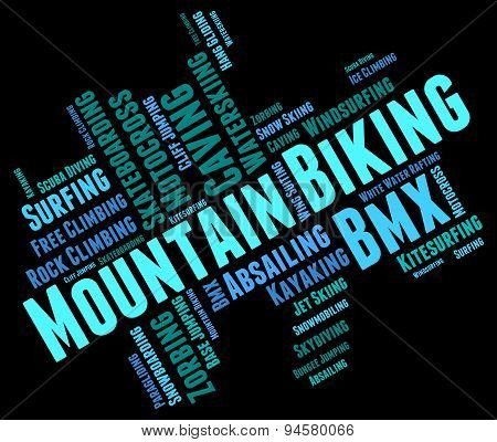 Mountain Biking Represents Cycling High And Outdoor