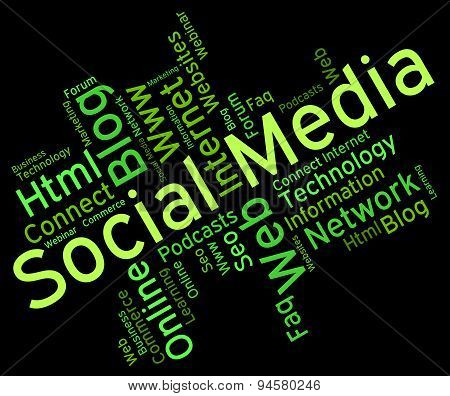 Social Media Represents News Feed And Forums