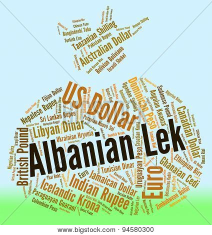 Albanian Lek Shows Foreign Exchange And Banknote