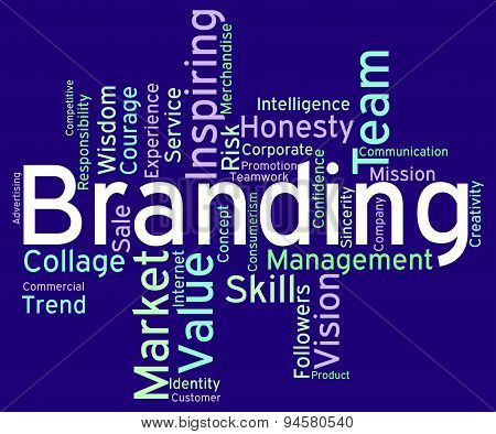 Branding Words Indicates Wordcloud Brands And Store