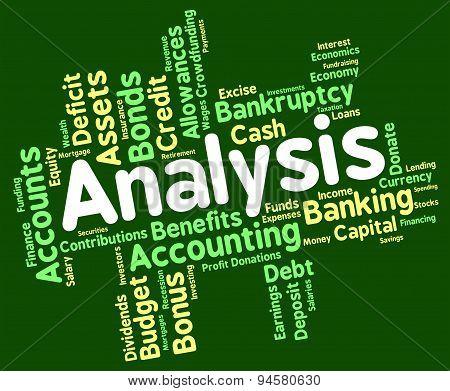 Analysis Word Shows Data Analytics And Analyse