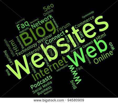 Websites Word Means Online Words And Net