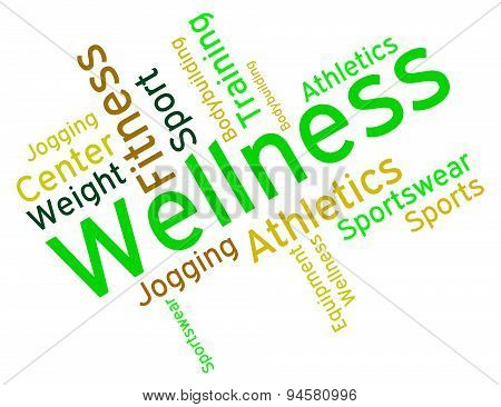 Wellness Words Means Preventive Medicine And Care