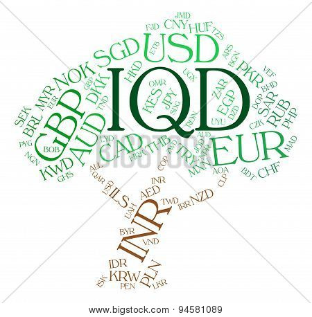 Iqd Currency Represents Worldwide Trading And Coin