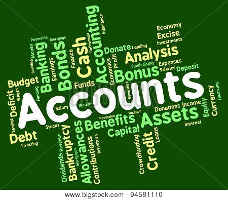 Accounts Words Means Balancing The Books And Accounting
