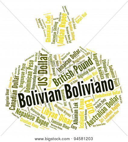 Bolivian Boliviano Means Forex Trading And Banknote