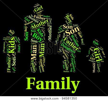 Family Words Represents Household Wordcloud And Relations