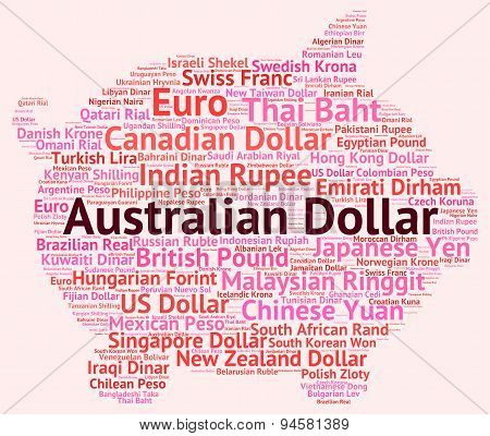 Australian Dollar Means Forex Trading And Banknotes