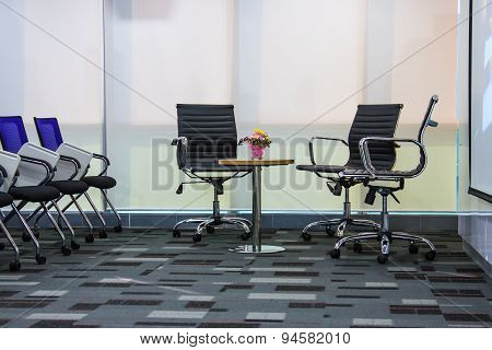 BANGKOK THAILAND-NOVEMBER 29: Empty business conference room interior in office on November 292014 i