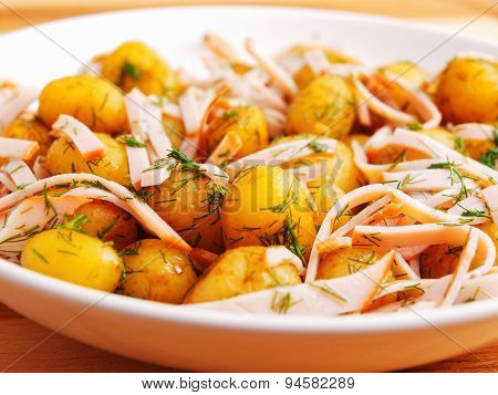 Fried Baby Potatoes With Bacon