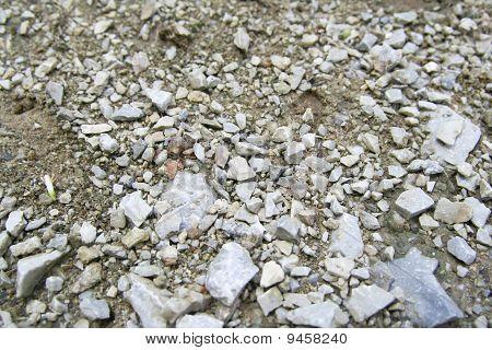 Stone gravel.