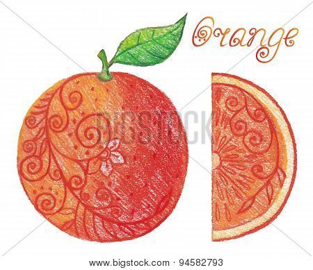 Sketchy Orange