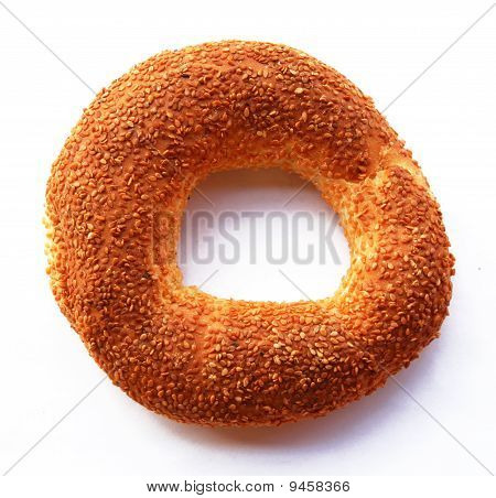 The Turkish Bagel Strewed By Sesame Seeds