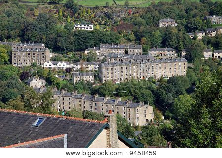 Village on a Yorkshire hillside