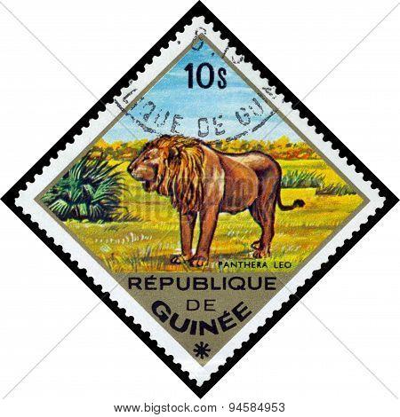 Vintage  Postage Stamp. Lion. Africa.