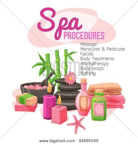 Spa Procedures Illustration