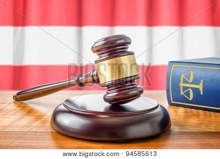 A Gavel And A Law Book - Austria