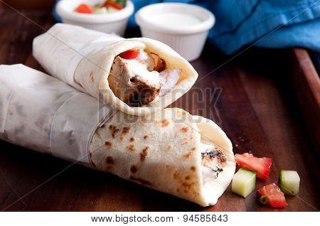 Chicken Kabob With Salsa