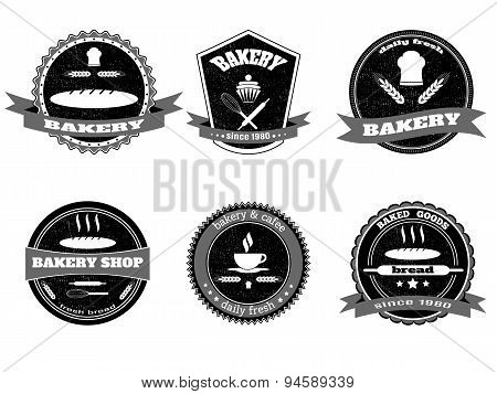 Retro Bakery Logos, Badges And Labels Set.