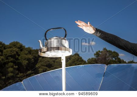 Solar Stove Boiling Water
