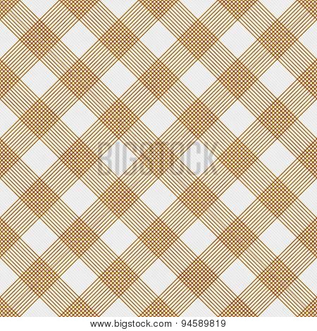 Orange And White Striped Gingham Tile Pattern Repeat Background