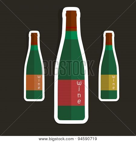 Bottles abstract isolated on a brown backgrounds