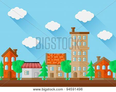 City landscape. Flat design