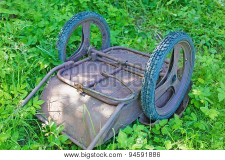 Old Garden Wheelbarrow