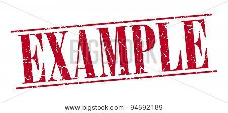 Example Red Grunge Vintage Stamp Isolated On White Background
