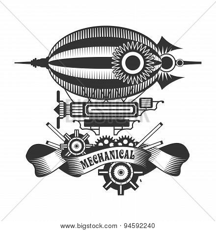 steampunk dirigible