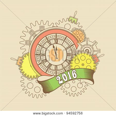Steampunk mechanism 2016