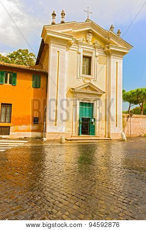 The Church Of St Mary In Palmis In Rome, Italy