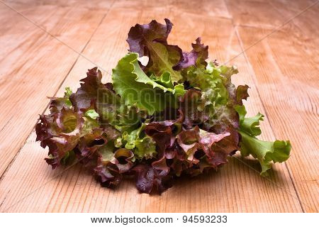 Lettuce On Wooden Table