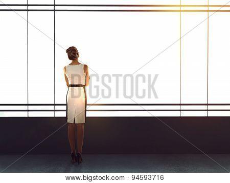 Businesswoman In Modern Office