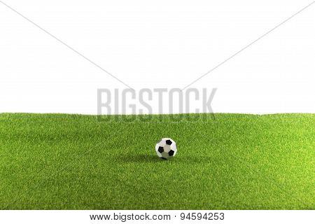 Ball on huge Grass Field