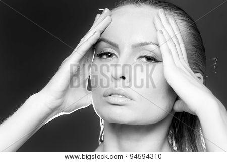 Portrait Of Undressed Girl