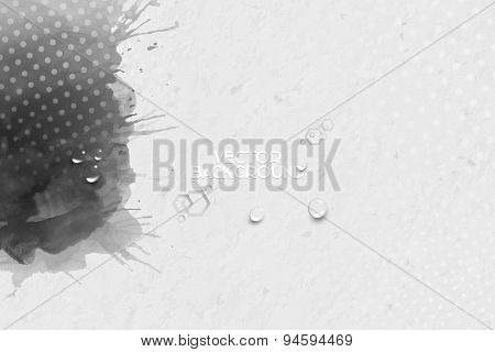 Abstract hand drawn watercolor gray background with empty place for text message, grunge style vecto