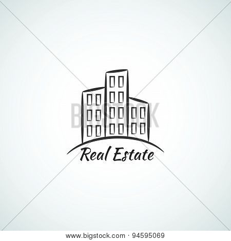 Real Estate company vector logotype icon