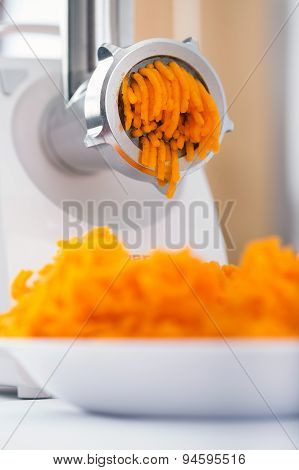 Pumpkin Minced With An Electrical Grinder