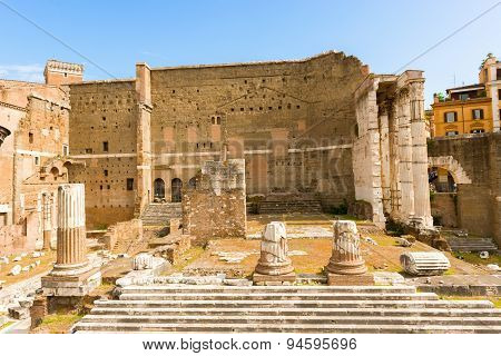 Forum Of Augustus In Rome, Italy.