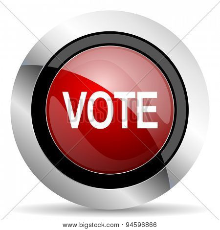 vote red glossy web icon original modern design for web and mobile app on white background