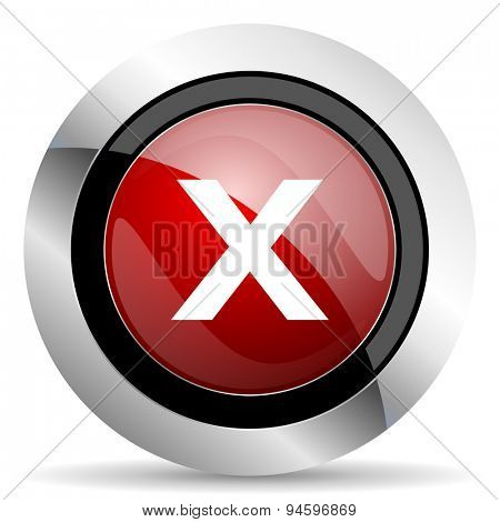 cancel red glossy web icon original modern design for web and mobile app on white background