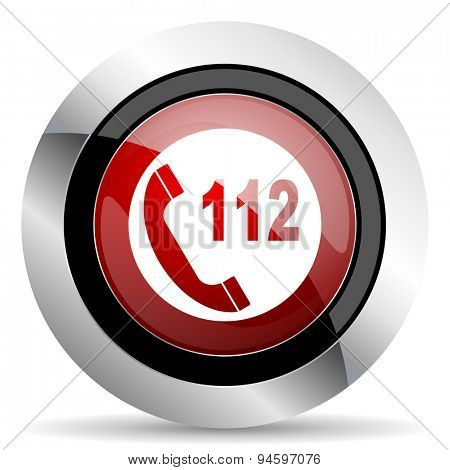 emergency call red glossy web icon original modern design for web and mobile app on white background