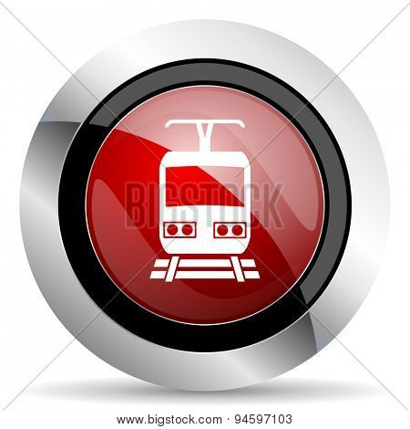 train red glossy web icon original modern design for web and mobile app on white background