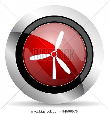 windmill red glossy web icon original modern design for web and mobile app on white background