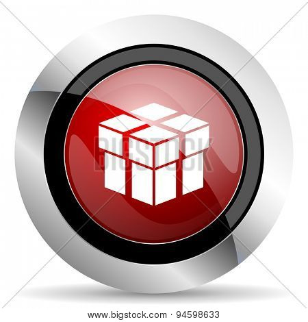 box red glossy web icon original modern design for web and mobile app on white background