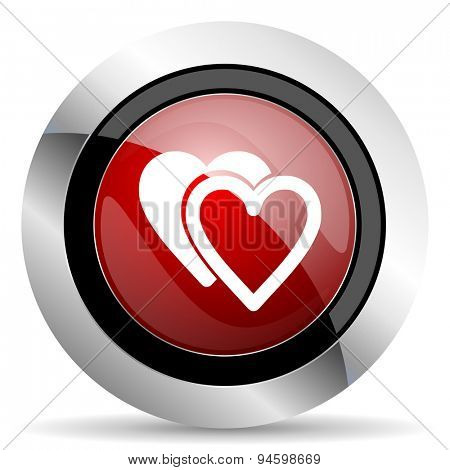 love red glossy web icon original modern design for web and mobile app on white background